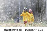 toddlers walk in the autumn... | Shutterstock . vector #1080644828