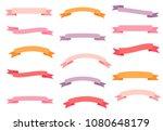 pink  violet and orange vector... | Shutterstock .eps vector #1080648179