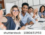 black office worker in... | Shutterstock . vector #1080651953