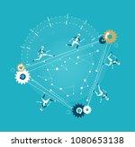 robots running around of...   Shutterstock .eps vector #1080653138