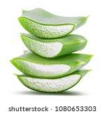 green fresh aloe vera isolated...   Shutterstock . vector #1080653303