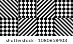 seamless pattern with striped... | Shutterstock .eps vector #1080658403