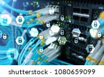 cyber security  data protection ... | Shutterstock . vector #1080659099