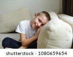 portrait of a shy child who... | Shutterstock . vector #1080659654