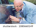 young worried funny looking man ... | Shutterstock . vector #1080660149