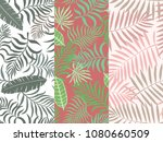 set of three seamless floral... | Shutterstock .eps vector #1080660509