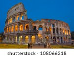 the ancient colosseum in rome ... | Shutterstock . vector #108066218