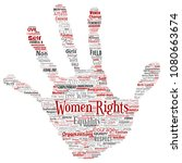conceptual women rights ... | Shutterstock . vector #1080663674