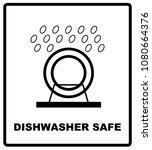dishwasher safe symbol isolated.... | Shutterstock . vector #1080664376