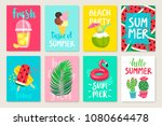 summer hand drawn calligraphyc... | Shutterstock .eps vector #1080664478