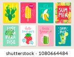 summer hand drawn calligraphyc... | Shutterstock .eps vector #1080664484