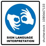 sign language interpreting... | Shutterstock . vector #1080667133