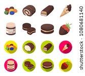 chocolate pasta  biscuit ... | Shutterstock .eps vector #1080681140
