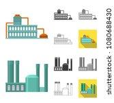 factory and facilities cartoon...