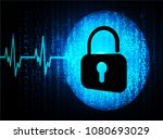 safety concept  closed padlock... | Shutterstock .eps vector #1080693029
