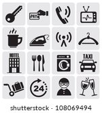 Hotel And Rest Icons Set