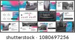 gradient presentation templates ... | Shutterstock .eps vector #1080697256
