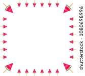 tasty watermelon slice ice... | Shutterstock .eps vector #1080698996