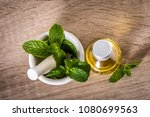 aroma essential oil from... | Shutterstock . vector #1080699563