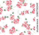 japanese style flower pattern ... | Shutterstock .eps vector #1080700349