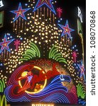 neon lights of splash casino... | Shutterstock . vector #108070868
