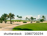 golfcars on the golf course ... | Shutterstock . vector #1080720254