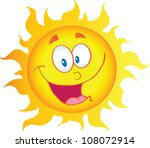 Happy Sun Cartoon Character ...