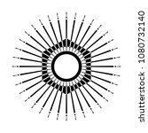 retro sun burst shape. vintage... | Shutterstock .eps vector #1080732140