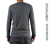 studio shot of man wearing... | Shutterstock . vector #1080734120