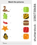 match the picture animal fur... | Shutterstock .eps vector #1080738686