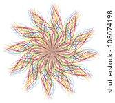 crazy sun over white   vector... | Shutterstock .eps vector #108074198