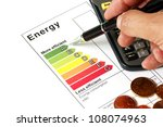 energy efficiency concept with... | Shutterstock . vector #108074963