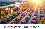 logistics and transportation of ... | Shutterstock . vector #1080756956