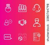 premium set with outline vector ... | Shutterstock .eps vector #1080764798