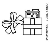gift with camera photographic | Shutterstock .eps vector #1080765800