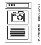 webpage template with camera | Shutterstock .eps vector #1080766496