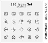 thin line icons set of seo ... | Shutterstock .eps vector #1080767570