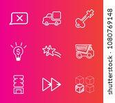 premium set with outline vector ... | Shutterstock .eps vector #1080769148