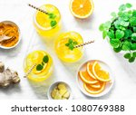 turmeric  ginger  orange... | Shutterstock . vector #1080769388