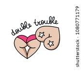 double trouble illustration... | Shutterstock .eps vector #1080771179