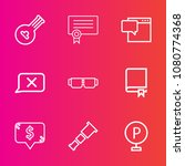 premium set with outline vector ... | Shutterstock .eps vector #1080774368
