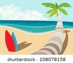 vector tropic empty coast for... | Shutterstock .eps vector #108078158