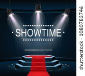 vector illustration of showtime ... | Shutterstock .eps vector #1080783746