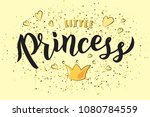 hand sketched little princess... | Shutterstock .eps vector #1080784559