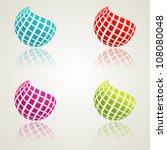 a set of abstract bcolor icons. ... | Shutterstock .eps vector #108080048