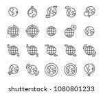 world map line icon set ... | Shutterstock .eps vector #1080801233