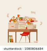 pile of papers  documents and...   Shutterstock .eps vector #1080806684