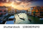 grand canal in venice at the... | Shutterstock . vector #1080809693