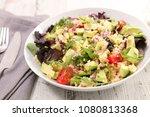 quinoa salad with tomato and... | Shutterstock . vector #1080813368