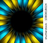 blue and yellow beams abstract...   Shutterstock .eps vector #1080818024